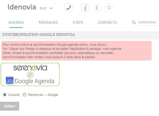 Synchronisation de l'agenda Belenos avec Google Agenda